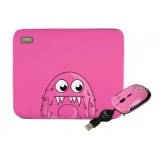 Perfect Choice - kit Funda Monsterz: Laptop Sleeve + Mouse - PC-080909-00006
