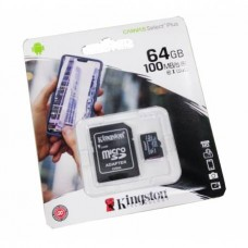 Kingston - Memoria Micro-SD 64 GB con Adaptador CL10